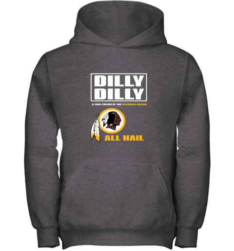 5j5v a true friend of the redskins youth hoodie 43 front dark heather