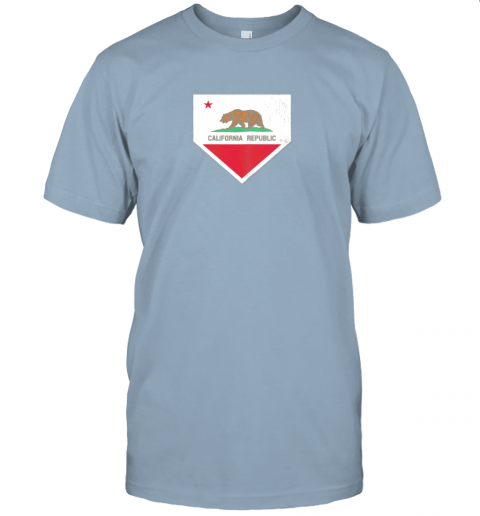 9qsz vintage baseball home plate with california state flag jersey t shirt 60 front light blue
