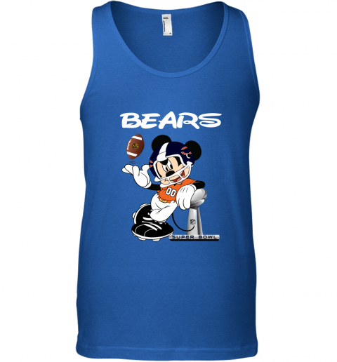 wflx mickey bears taking the super bowl trophy football unisex tank 17 front royal