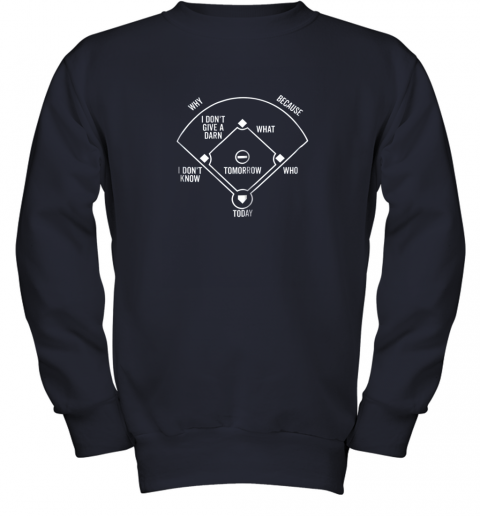 0krr who39 s on first shirt funny positions dark youth sweatshirt 47 front navy