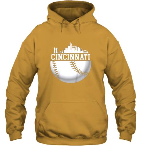 hd4y vintage downtown cincinnati shirt baseball retro ohio state hoodie 23 front gold