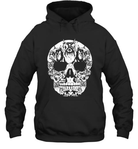Schnauzer Dog Skull Halloween Costumes Gift Hoodie