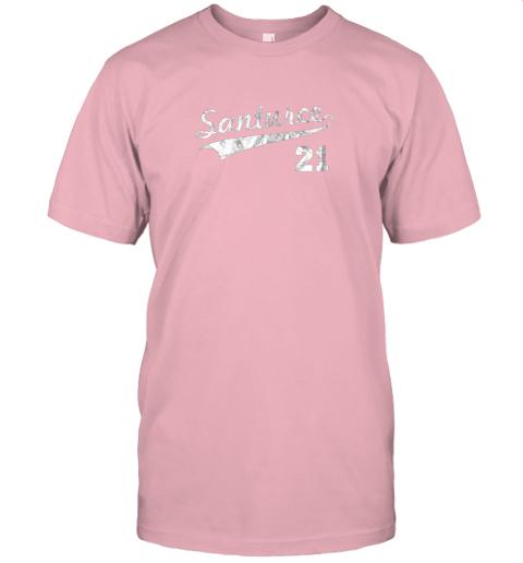shyt vintage distressed santurce 21 puerto rico baseball jersey t shirt 60 front pink