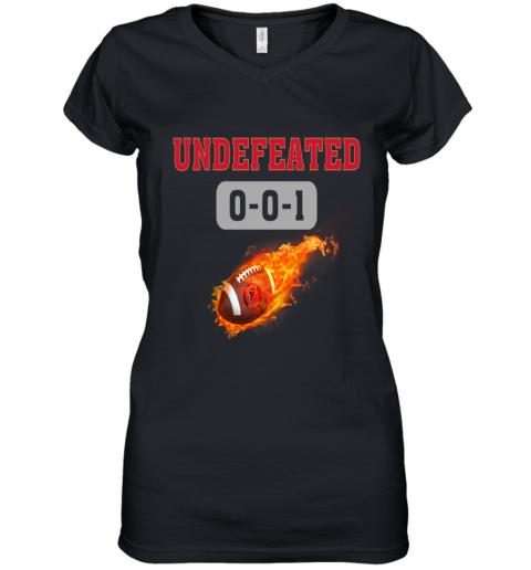NFL ATLANTA FALCONS Logo Undefeated Women's V-Neck T-Shirt