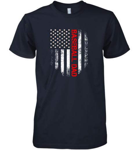 rm7q vintage usa american flag proud baseball dad player premium guys tee 5 front midnight navy