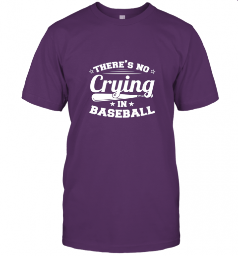 jw5t there39 s no crying in baseball gift jersey t shirt 60 front team purple