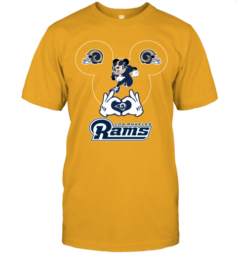 2nxj i love the rams mickey mouse los angeles rams jersey t shirt 60 front gold