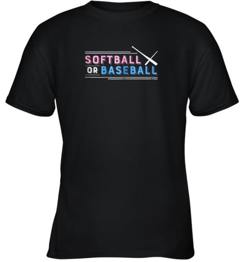 Softball or Baseball Shirt, Sports Gender Reveal Youth T-Shirt