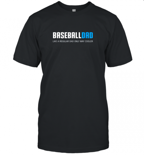 Mens Baseball Dad Shirt, Funny Cute Father's Day Gift Unisex Jersey Tee