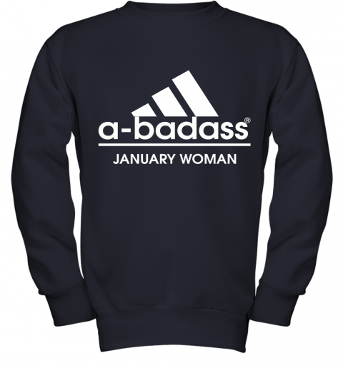 A Badass January Woman Are Born In March Youth Sweatshirt