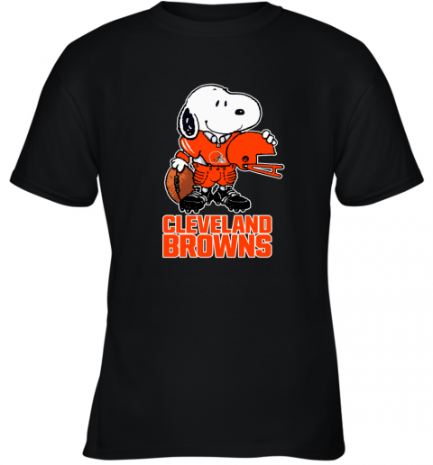 Snoopy A Strong And Proud Cleveland Browns NFL Youth T-Shirt