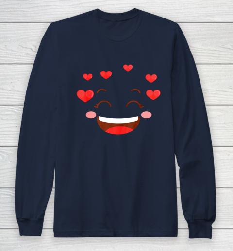 Kids Girls Valentine T Shirt Many Hearts Emoji Design Long Sleeve T-Shirt 2