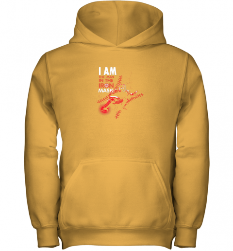 wuor i am the man in the iron mask baseball catcher youth hoodie 43 front gold