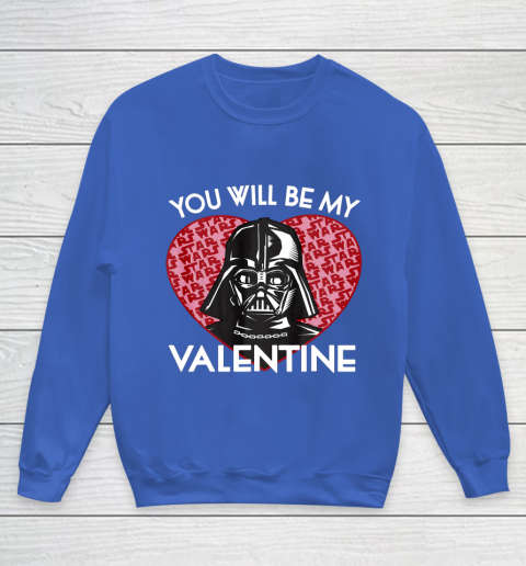 Star Wars You Will Be My Valentine Darth Vader Youth Sweatshirt 6
