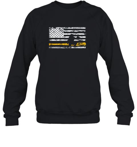Softball Catcher Shirts Baseball Catcher American Flag Sweatshirt