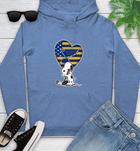 St.Louis Blues NHL Hockey The Peanuts Movie Adorable Snoopy Youth Hoodie 12