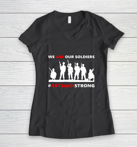 We Are Our Soldiers Women's V-Neck T-Shirt 6