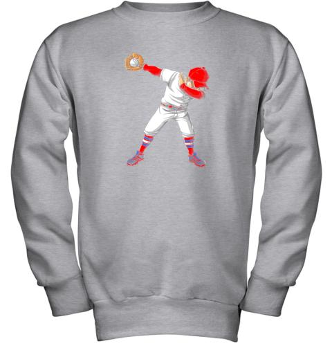 nlps dabbing baseball t shirt funny dab dance shirts boys girls youth sweatshirt 47 front sport grey
