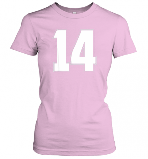 zkci halloween group costume 14 sport jersey number 14 14th bday ladies t shirt 20 front light pink