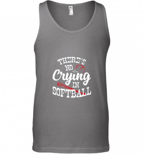 bnll theres no crying in softball game sports baseball lover unisex tank 17 front graphite heather