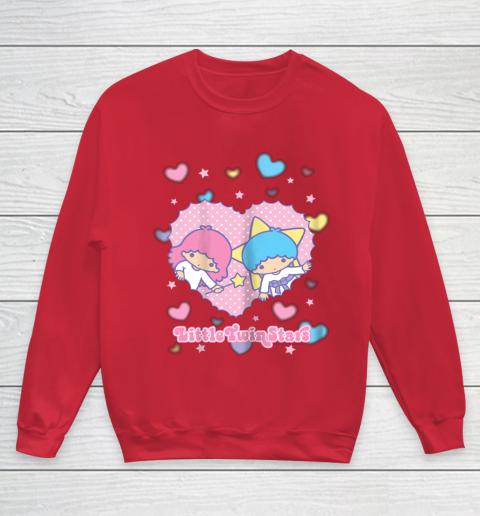 Little Twin Stars Retro Logo Valentine Youth Sweatshirt 7