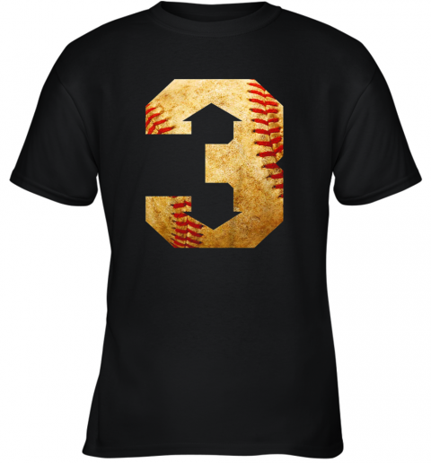 Three Up Three Down Baseball 3 Up 3 Down Youth T-Shirt
