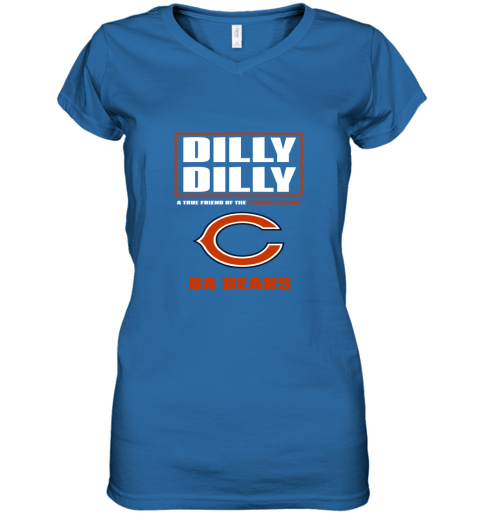 v0rk dilly dilly a true friend of the chicago bears women v neck t shirt 39 front royal
