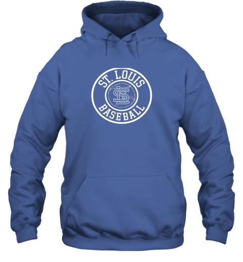 ybwr vintage st louis baseball missouri cardinal badge gift hoodie 23 front royal