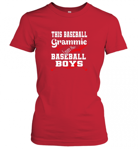 2pmy this baseball grammie loves her baseball boys ladies t shirt 20 front red