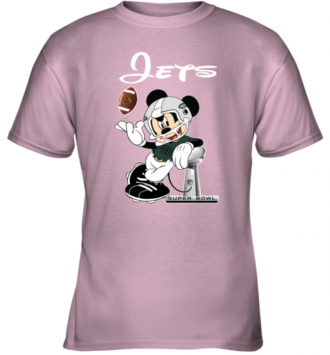 0x70 mickey jets taking the super bowl trophy football youth t shirt 26 front light pink