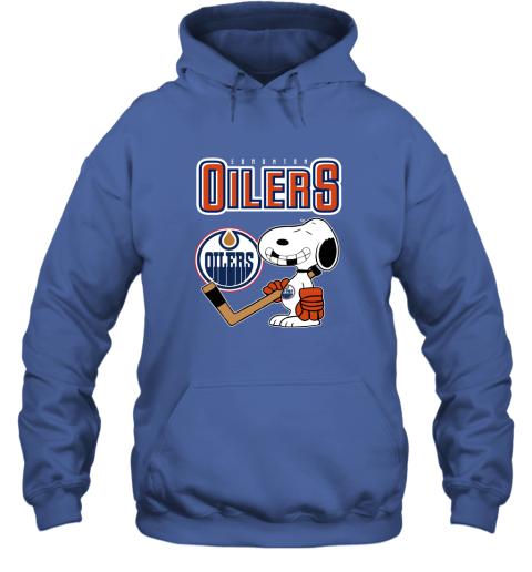 ubp1 edmonton oilers ice hockey broken teeth snoopy nhl shirt hoodie 23 front royal