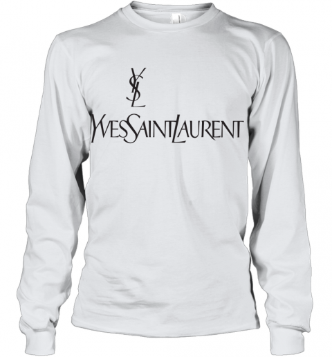 Ysl Yves Saint Laurent Logo Youth Long Sleeve