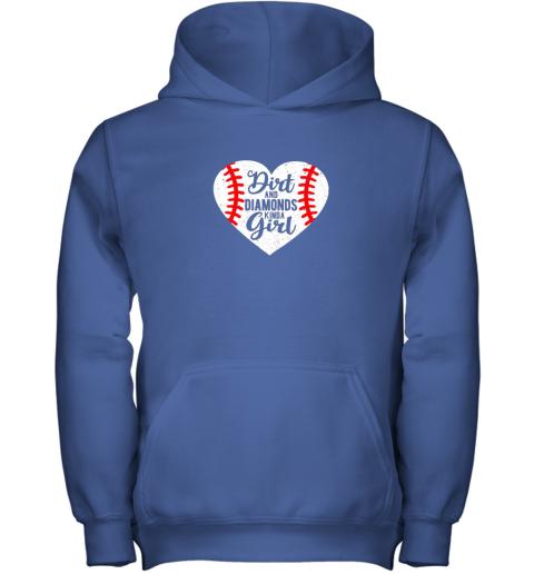 lq1z dirt and diamonds kinda girl baseball youth hoodie 43 front royal