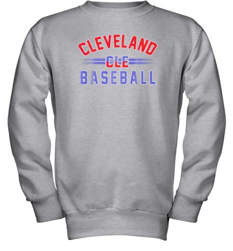 gitw cleveland cle baseball youth sweatshirt 47 front sport grey