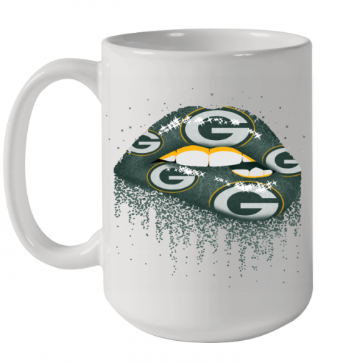Sexy  Lips Green Bay Packers NFL Ceramic Mug 15oz