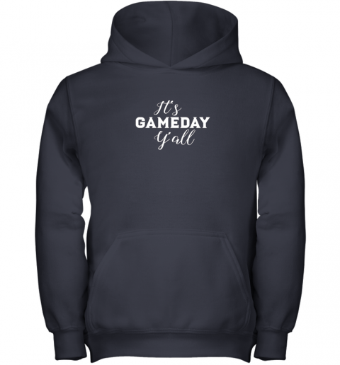 lolz it39 s game day y39 all football baseball basketball youth hoodie 43 front navy