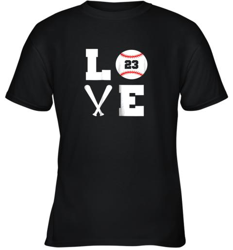I Love Baseball Player Number #23 Gift Shirt Youth T-Shirt