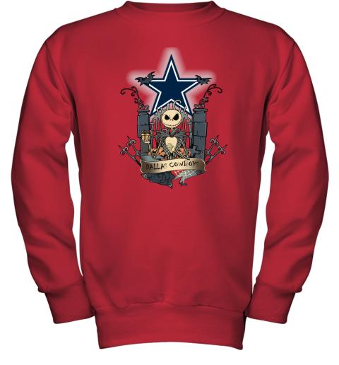 Dallas Cowboys Jack Skellington This Is Halloween NFL Youth Sweatshirt