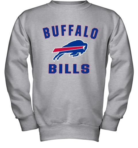 Buffalo Bills NFL Pro Line Gray Victory Arch Youth Sweatshirt
