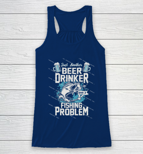 Beer Lover Funny Shirt Fishing ANd Beer Racerback Tank 6