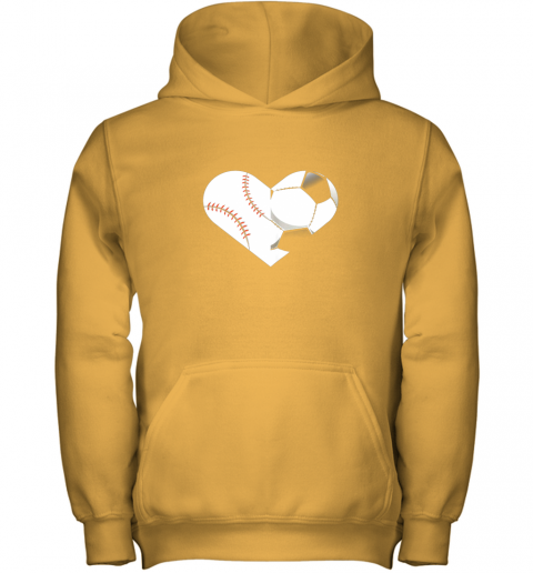 4to9 soccer baseball heart sports tee baseball soccer youth hoodie 43 front gold