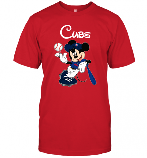 rfap baseball mickey team chicago cubs jersey t shirt 60 front red
