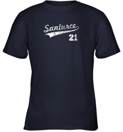 karl vintage distressed santurce 21 puerto rico baseball youth t shirt 26 front navy