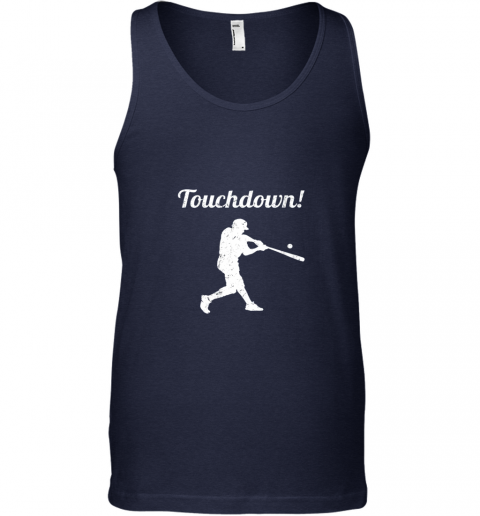 l21o touchdown funny baseball unisex tank 17 front navy