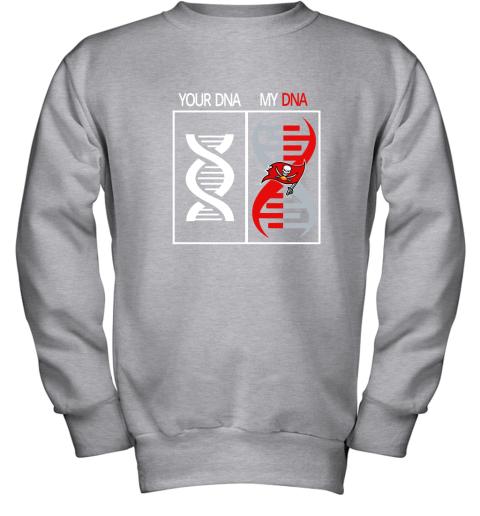 j8kp my dna is the tampa bay buccaneers football nfl youth sweatshirt 47 front sport grey