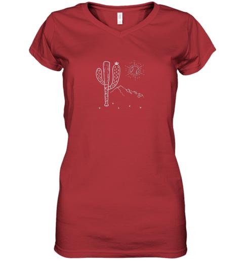 q2jt cactus baseball bat image shirt for america39 s pastime fan women v neck t shirt 39 front red