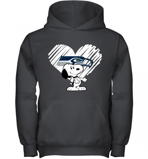 A Happy Christmas With Seattle Seahawks Snoopy Youth Hoodie