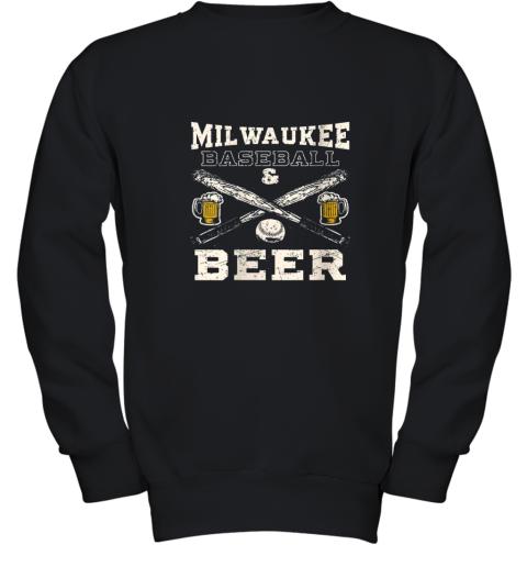 Love Milwaukee Love Baseball Youth Sweatshirt