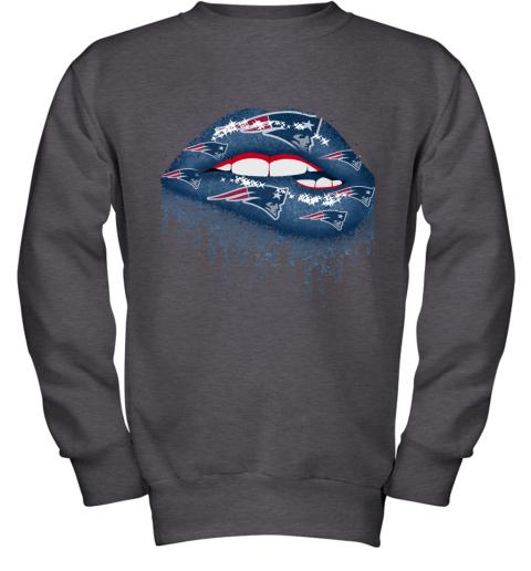 Biting Glossy Lips Sexy New England Patriots NFL Football Youth Sweatshirt