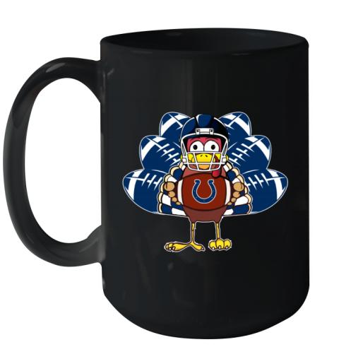Indianapolis Colts  Thanksgiving Turkey Football NFL Ceramic Mug 15oz